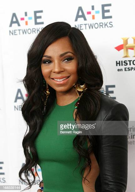 Actress Ashanti attends the 2013 AE Networks Upfront at Lincoln Center on May 8 2013 in New York City