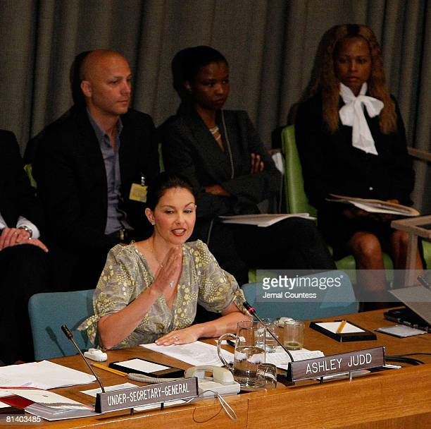 Actress Ashely Judd attends and speaks at a special thematic debate at the United Nations to focus global attention on Human Trafficking Mr Srgjan...