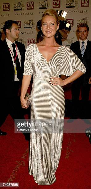 Actress Asher Keddie arrives at the 2007 TV Week Logie Awards at the Crown Casino on May 6 2007 in Melbourne Australia The annual television awards...