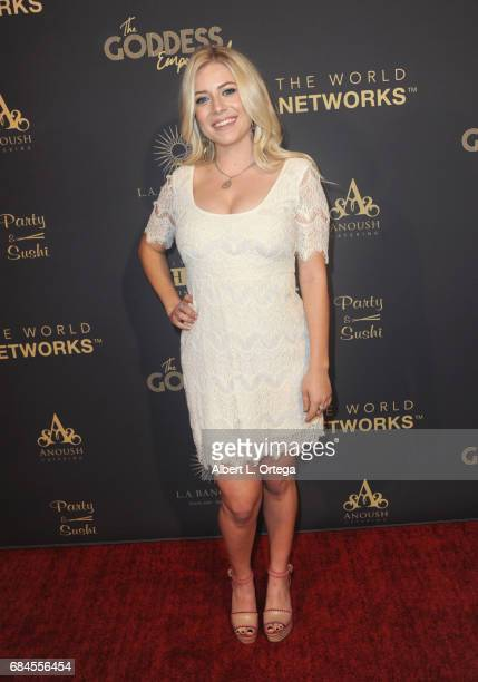 Actress Ashlee Macropoulos arrives for The World Networks Presents Launch Of The Goddess Empowered held at Brandview Ballroom on May 17 2017 in...