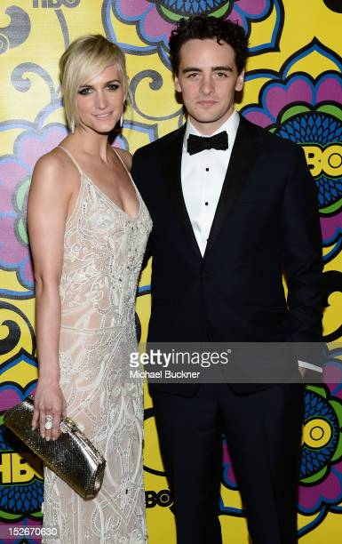 Actress Ashlee Simpson and Vincent Piazza arrive at HBO's Annual Emmy Awards Post Awards Reception at the Pacific Design Center on September 23 2012...