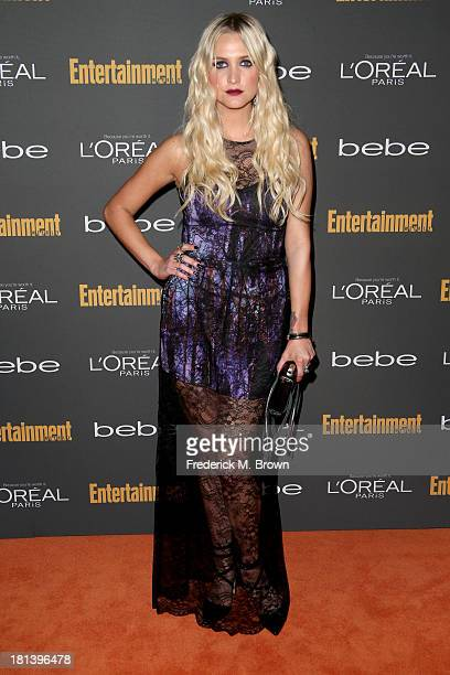 Actress Ashlee Simpson arrives at Entertainment Weekly's Pre-Emmy Party at Fig & Olive Melrose Place on September 20, 2013 in West Hollywood,...