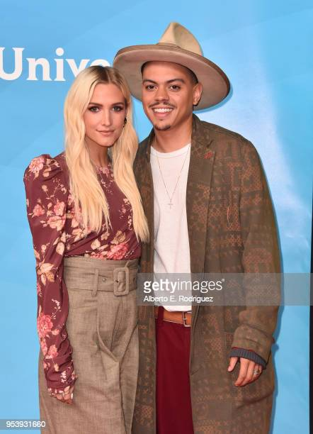 Actress Ashlee SimpsonRoss and musician Evan Ross attend NBCUniversal's Summer Press Day 2018 at The Universal Studios Backlot on May 2 2018 in...
