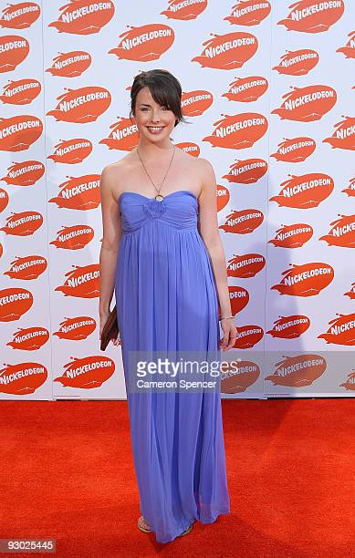 Actress Ashleigh Brewer arrives for the Australian Nickelodeon Kids' Choice Awards 2009 at Hisense Arena on November 13 2009 in Melbourne Australia