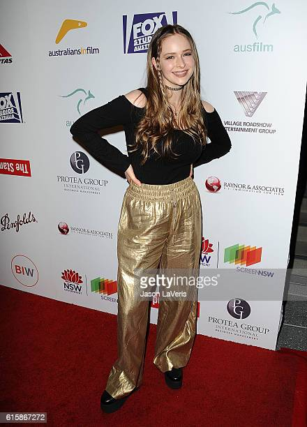 Actress Ashleigh Cummings attends the Australians In Film 5th annual awards gala on October 19 2016 in Los Angeles California