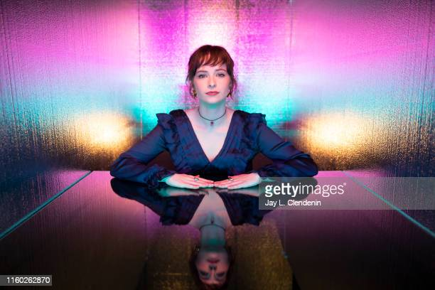 Actress Ashleigh Cummings of 'NOS4A2' are photographed for Los Angeles Times at ComicCon International on July 20 2019 in San Diego California...