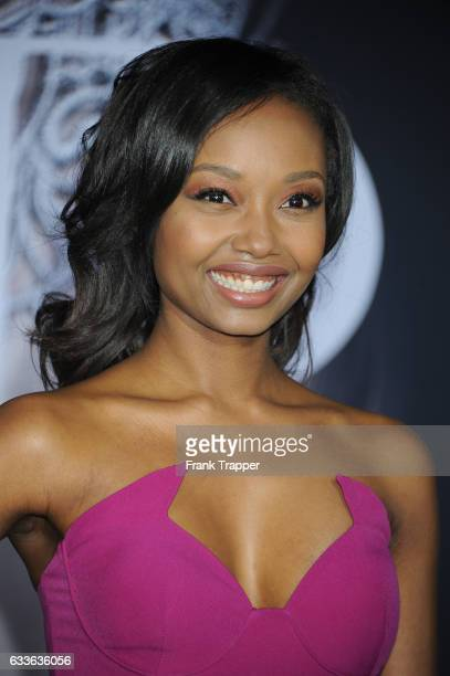 Actress Ashleigh LaThrop attends the premiere of Universal Pictures' 'Fifty Shades Darker' at The Theatre at Ace Hotel on February 2 2017 in Los...