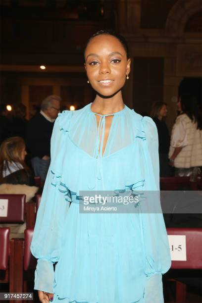 Actress Ashleigh Murray attends the Dennis Basso fashion show at St Bartholomew's Church on February 12 2018 in New York City