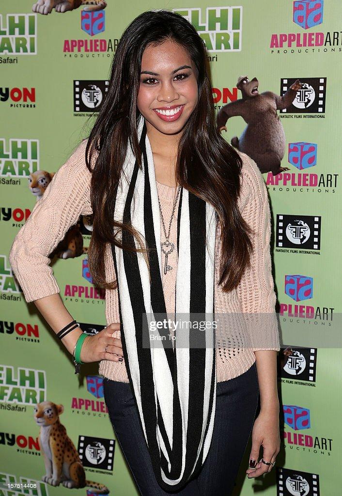 Actress Ashley Argota attends 'Delhi Safari' - Los Angeles premiere at Pacific Theatre at The Grove on December 3, 2012 in Los Angeles, California.