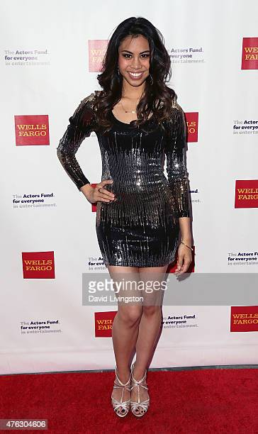 Actress Ashley Argota attends the Actors Fund's 19th Annual Tony Awards Viewing Party at the Skirball Cultural Center on June 7 2015 in Los Angeles...