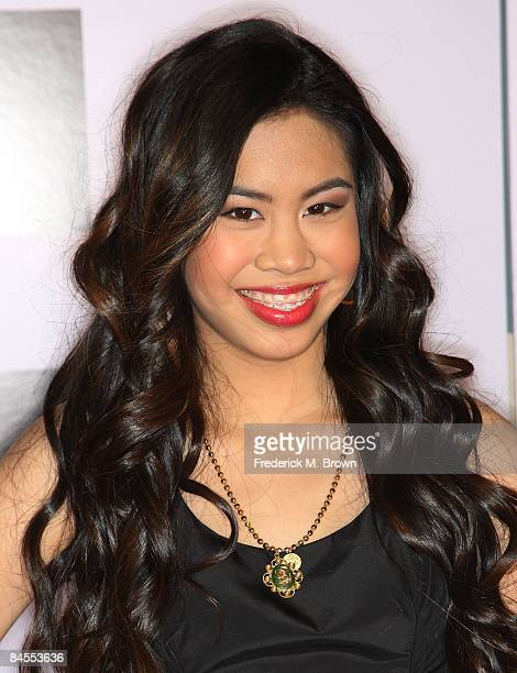 Actress Ashley Argota attends the Push film premiere at the Mann Village Theater on January 29 2009 in Westwood California