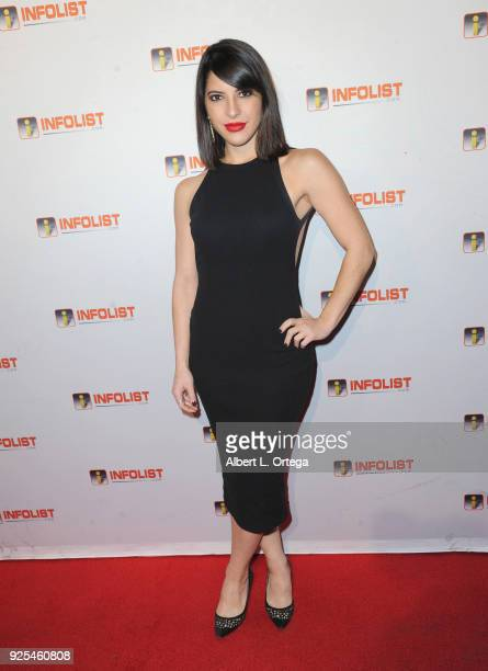 Actress Ashley Arpel Greenwald attends the INFOListcom's PreOscar Soiree and Jeff Gund Birthday Party held at Mondrian Sky Bar on February 27 2018 in...