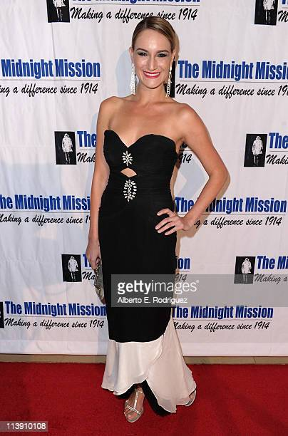 Actress Ashley Avis arrives to The Midnight Mission's 11th Annual Golden Heart Awards on May 9 2011 in Beverly Hills California