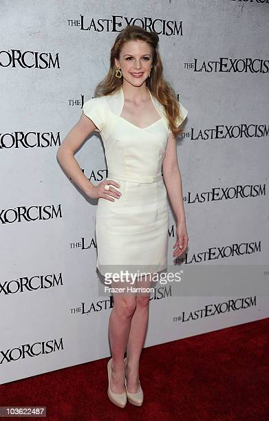 Actress Ashley Bell arrives at the screening of Lionsgate's The Last Exorcismat the Arclight Cinemas on August 24 2010 in Hollywood California