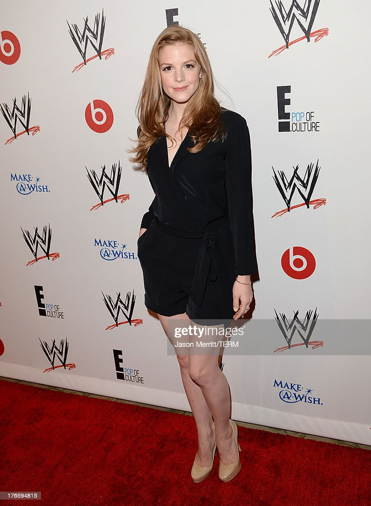 Actress Ashley Bell attends WWE & E! Entertainment's 'SuperStars For Hope' at the Beverly Hills Hotel on August 15, 2013 in Beverly Hills, California.