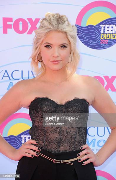 Actress Ashley Benson arrive at the 2012 Teen Choice Awards at Gibson Amphitheatre on July 22 2012 in Universal City California