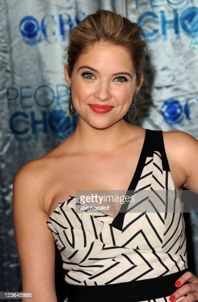 Actress Ashley Benson arrives at the 2011 People's Choice Awards at Nokia Theatre LA Live on January 5 2011 in Los Angeles California