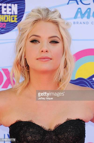 Actress Ashley Benson arrives at the 2012 Teen Choice Awards at Gibson Amphitheatre on July 22 2012 in Universal City California
