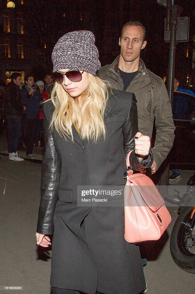 Actress Ashley Benson arrives at the 'L'Avenue' restaurant on February 16, 2013 in Paris, France.