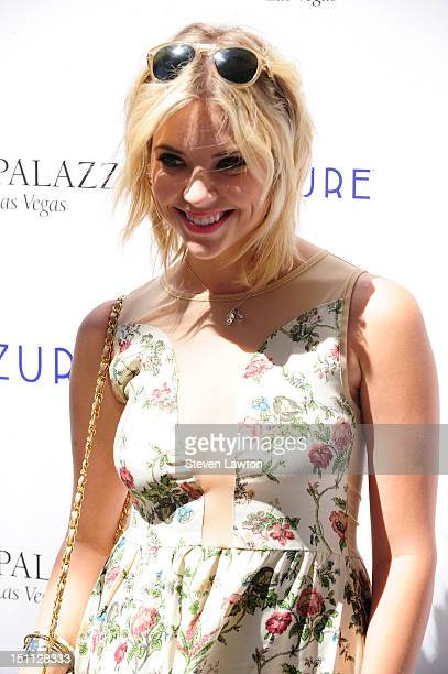 Actress Ashley Benson arrives to celebrate Labor Day weekend at the Azure pool at The Palazzo on September 1 2012 in Las Vegas Nevada