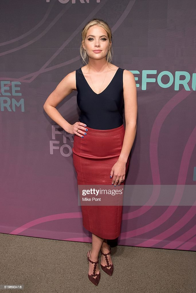 Actress Ashley Benson attends the 2016 Freeform Upfront at Spring Studios on April 7, 2016 in New York City.