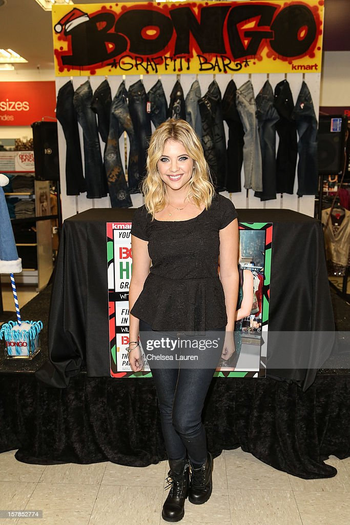 Actress Ashley Benson attends the Bongo graffiti party at KMart on December 6, 2012 in Los Angeles, California.