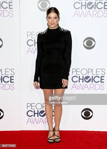 Actress Ashley Benson attends the People's Choice Awards 2016 at Microsoft Theater on January 6 2016 in Los Angeles California