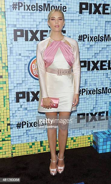 Actress Ashley Benson attends the 'Pixels' New York premiere at Regal EWalk on July 18 2015 in New York City