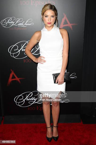 Actress Ashley Benson attends the 'Pretty Little Liars' 100th episode celebration at W Hollywood on May 31 2014 in Hollywood California