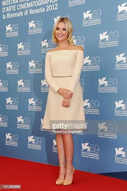 Actress Ashley Benson attends the Spring Breakers Photocall during the 69th Venice Film Festival at the Palazzo del Casino on September 5 2012 in...