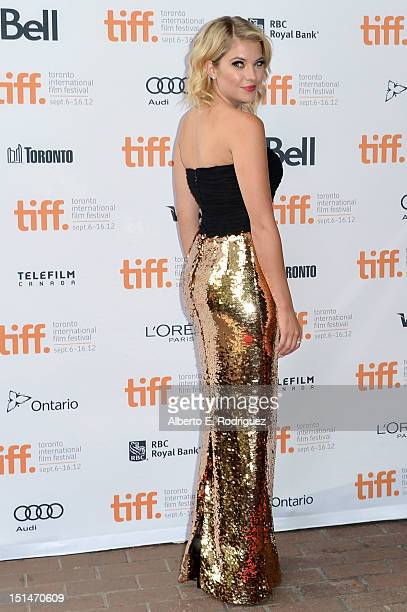 Actress Ashley Benson attends theSpring Breakers premiere during the 2012 Toronto International Film Festival at Ryerson Theatre on September 7 2012...