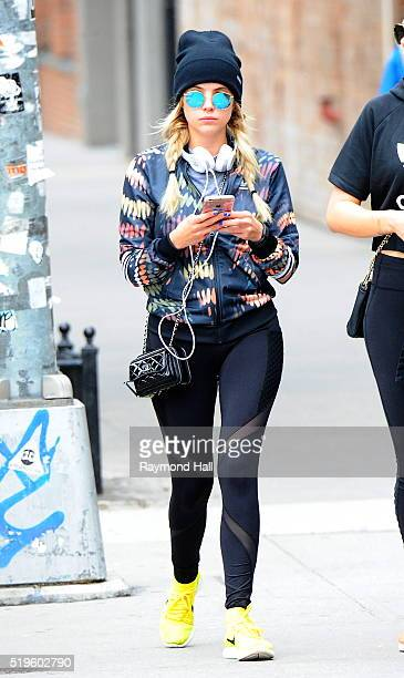 Actress Ashley Benson is seen walking in Soho from the GYM on April 7 2016 in New York City