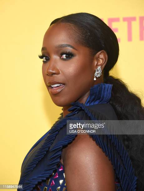 US actress Ashley Blaine Featherson arrives for the premiere of Netflix's Dear White People Season 3 at Regal Cinemas LA Live in Los Angeles on...