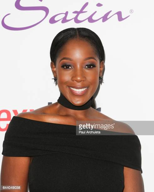 Actress Ashley Blaine Featherson attends OK Magazine's annual preOscar event at Nightingale Plaza on February 22 2017 in Los Angeles California