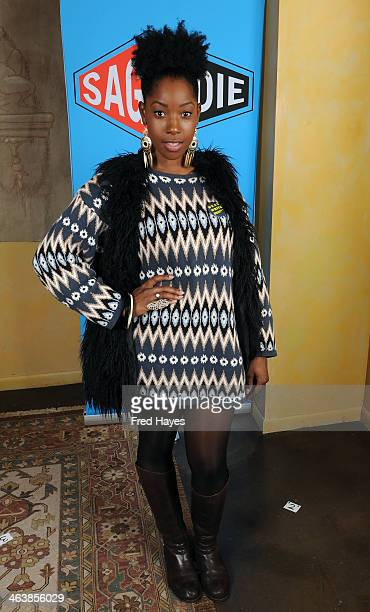 Actress Ashley Blaine Featherson attends the Actors SAG Indie Brunch at Cafe Terigo on January 19 2014 in Park City Utah