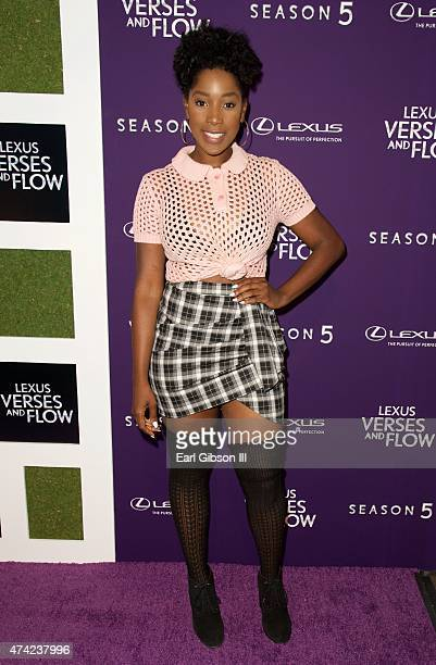 Actress Ashley Blaine Featherson attends Verses And Flow Season 5 at Siren Studios on May 20 2015 in Hollywood California