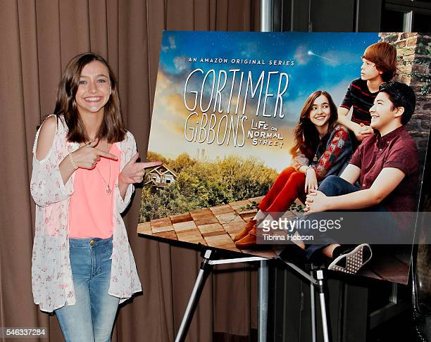 Actress Ashley Boettcher attends the Amazon and Google Team Up for STEM Panel with the cast of 'Gortimer Gibbon's Life On Normal Street' event at...