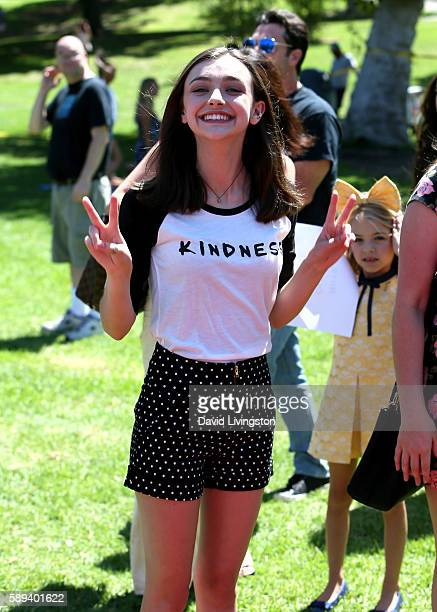 Actress Ashley Boettcher attends the Say NO Bullying Festival at Griffith Park on August 13 2016 in Los Angeles California