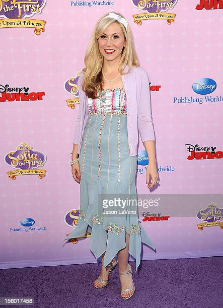 Actress Ashley Eckstein attends the premiere of 'Sofia The First Once Upon a Princess' at Walt Disney Studios on November 10 2012 in Burbank...