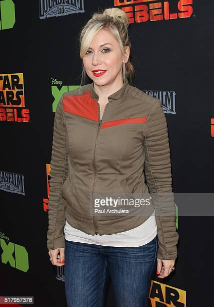 Actress Ashley Eckstein attends the Star Wars Rebels season 2 finale at The Walt Disney Studios on March 28 2016 in Burbank California