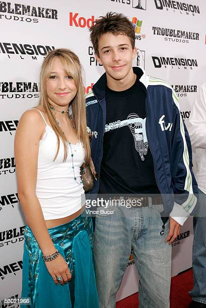 Actress Ashley Edner and her brother actor Bobby Edner attend the premiere of Dimension Films 'The Adventures of Shark Boy and Lava Girl in 3D' at...