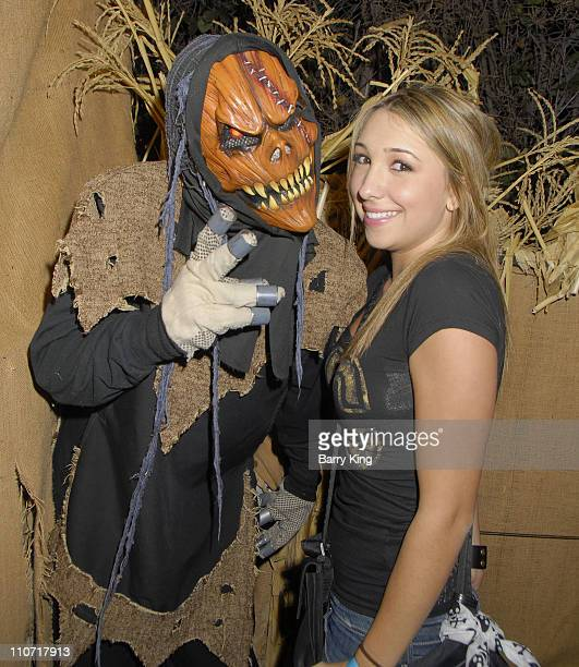 COVERAGE* Actress Ashley Edner poses in the CornStalkers Maze at Knott's Scary Farm's 36th Annual Haunt on October 26 2008 in Buena Park California