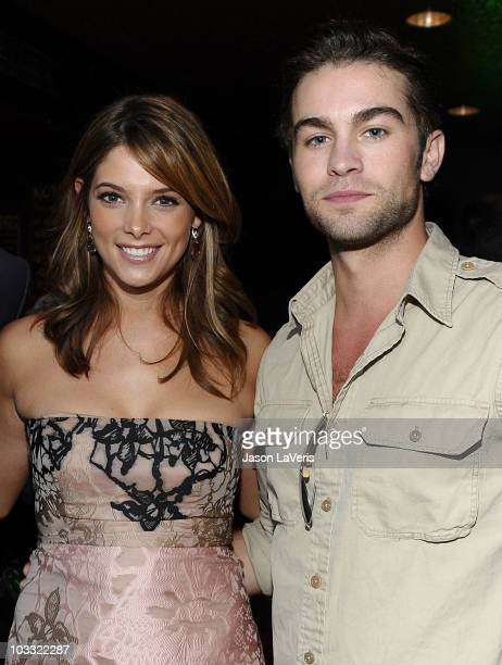 Actress Ashley Greene and actor Chace Crawford attend the green room at the 2010 Teen Choice Awards sponsored by EA's The Sims 3 at the Gibson...
