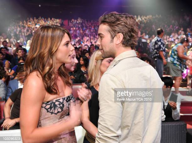 Actress Ashley Greene and actor Chase Crawford attend the 2010 Teen Choice Awards at Gibson Amphitheatre on August 8 2010 in Universal City California