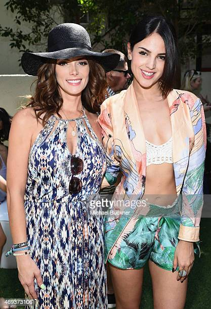 Actress Ashley Greene and Eiza Gonzalez attend People StyleWatch REVOLVE Fashion and Festival Event at Avalon Palm Springs on April 11 2015 in Palm...