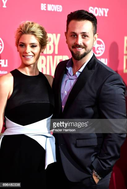 Actress Ashley Greene and Paul Khoury arrive at the Premiere of Sony Pictures' Baby Driver at Ace Hotel on June 14 2017 in Los Angeles California