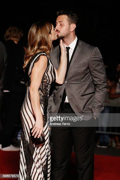 Actress Ashley Greene and Paul Khoury attend the premiere of 'In Dubious Battle' during the 73rd Venice Film Festival at Sala Giardino on September 3...