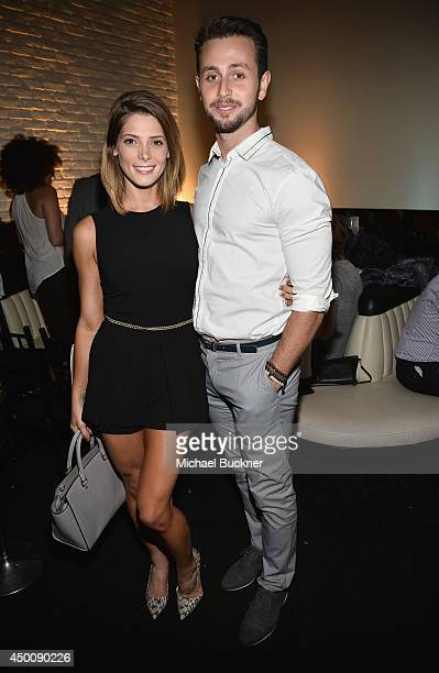 Actress Ashley Greene and Paul Khoury attend the STK Los Angeles 6th Anniversary Party at STK on June 4 2014 in Los Angeles California