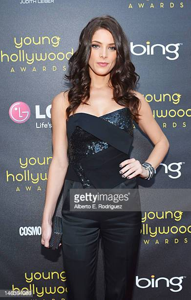 Actress Ashley Greene arrives at 14th Annual Young Hollywood Awards presented by Bing at Hollywood Athletic Club on June 14 2012 in Hollywood...