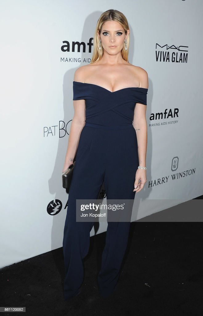 Actress Ashley Greene arrives at amfAR Los Angeles 2017 at Ron Burkleâs Green Acres Estate on October 13, 2017 in Beverly Hills, Californi